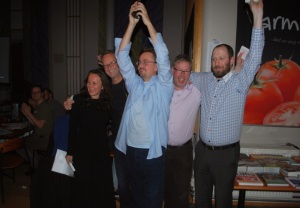 Vinnere av NM i lagquiz 2014, El diablo en el ojo: Aldona Szczepanska, Jim Isaksen, Thomas Kolåsæter, Eirik Bäcklund og Lars André Gundersen